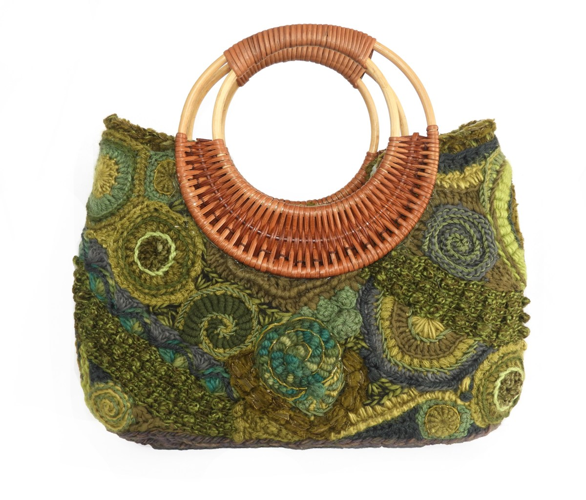 Freeform Crochet Handbags.