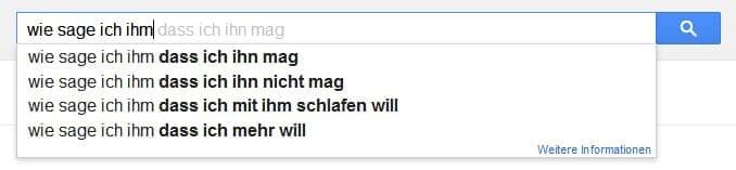 """Google Sceenshot zur der Suche nach dem Satz """"""""Wie sag ich ihm..."""""""