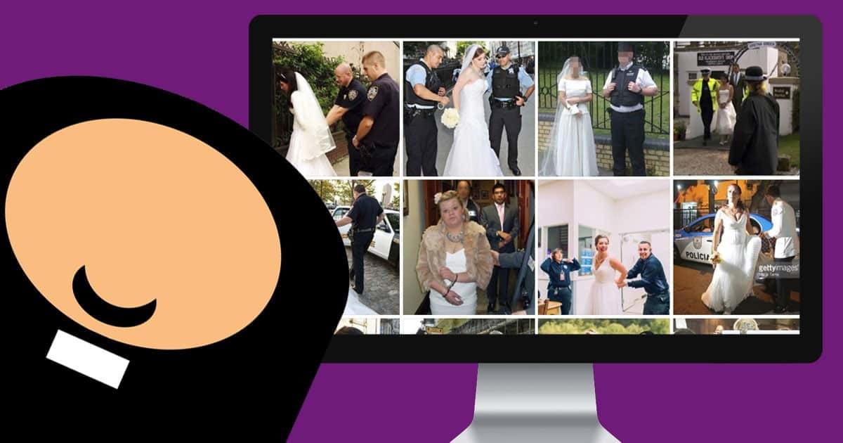 Es sind die wohl schrägsten Bilder von Hochzeitsbräuten die man je gesehen hat - was meint ihr?