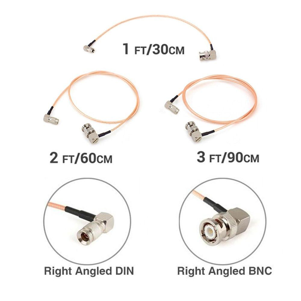 CGPRO RIGHT ANGLE DIN TO RIGHT ANGLE BNC SDI CABLE