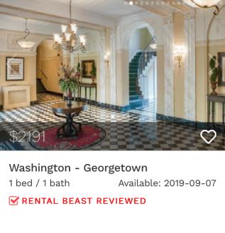 rent in Georgetown