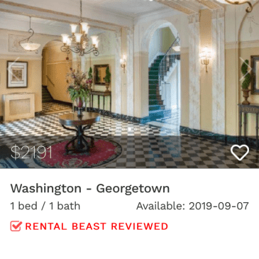rent in Georgetown