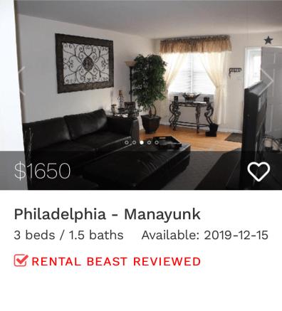 rent in Philadelphia