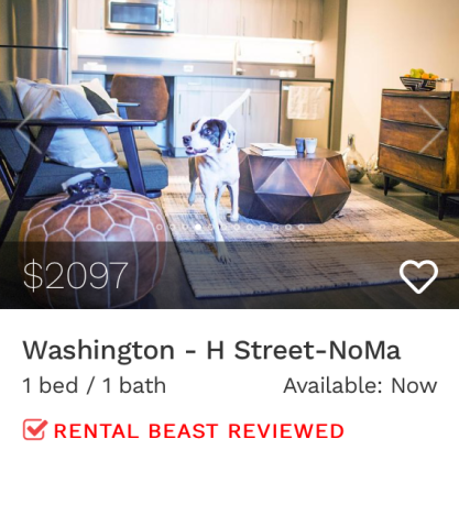rent in dc