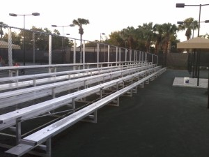 5-row bleachers without center aisle