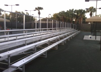 5 Row Rental Bleachers without center aisle