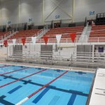Rent Bleachers for Swim Meet