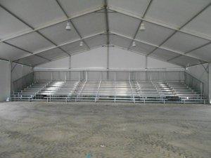 10 row used bleachers with 2 mid aisle