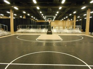 Indoor Basketball Event Bleachers
