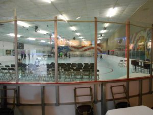 Skating-rink rental bleachers