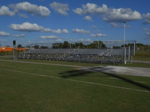 Venice High School Football long term bleacher rental in Sarasota County Florida