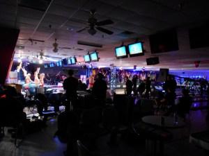 Bleachers in a Bowling Alley