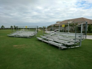 21 foot 5 row bleacher unit