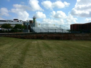 bleachers for a music festival