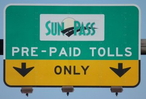 rental car transponders: SunPass sign