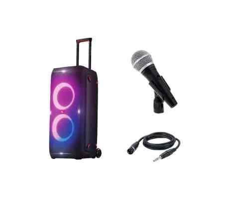 JBL Partybox 310 kõlar + 5m juhtmega Shure käsimikrofoni rent