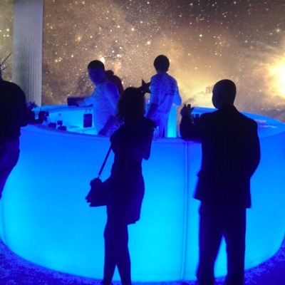 Glowing bar rental for events