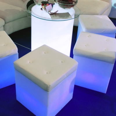 led-ottoman1aLED Cube stools for rent