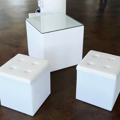 LED cube outdoor tables for rent