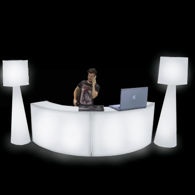 Curved LED DJ Booth for rent