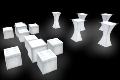 LED Furniture rental Package
