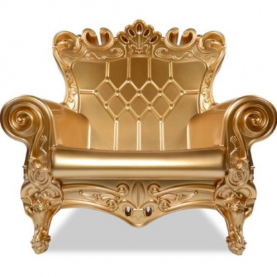 Gold Throne chair for rent