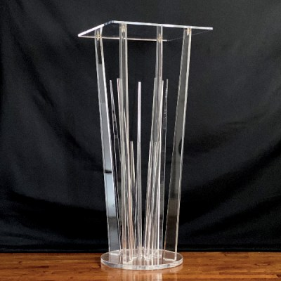 acrylic clear cocktail table rental