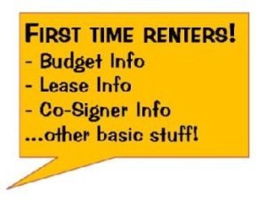 First Time Renters!