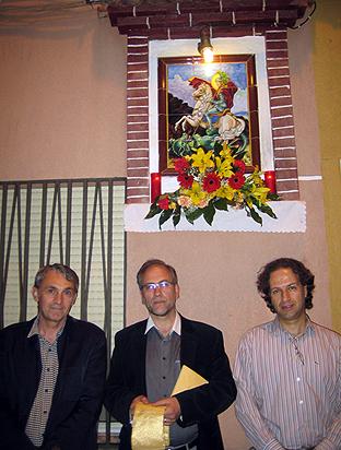 D'esquerra a dreta: Joaquim Meneu, August Monzon i Xuquri.