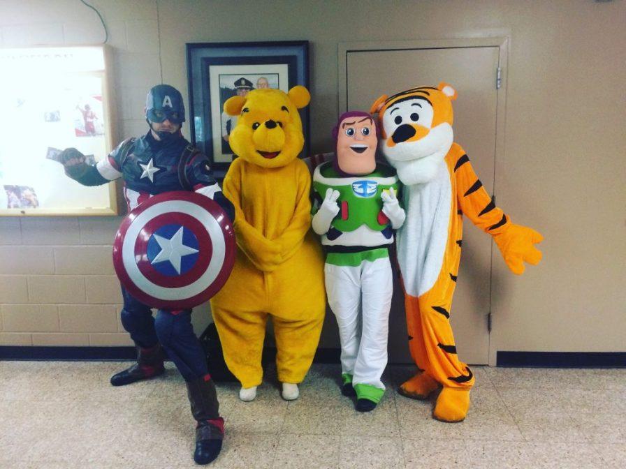 Captain America,winnie the pooh,Buzz light year, Tony the tiger