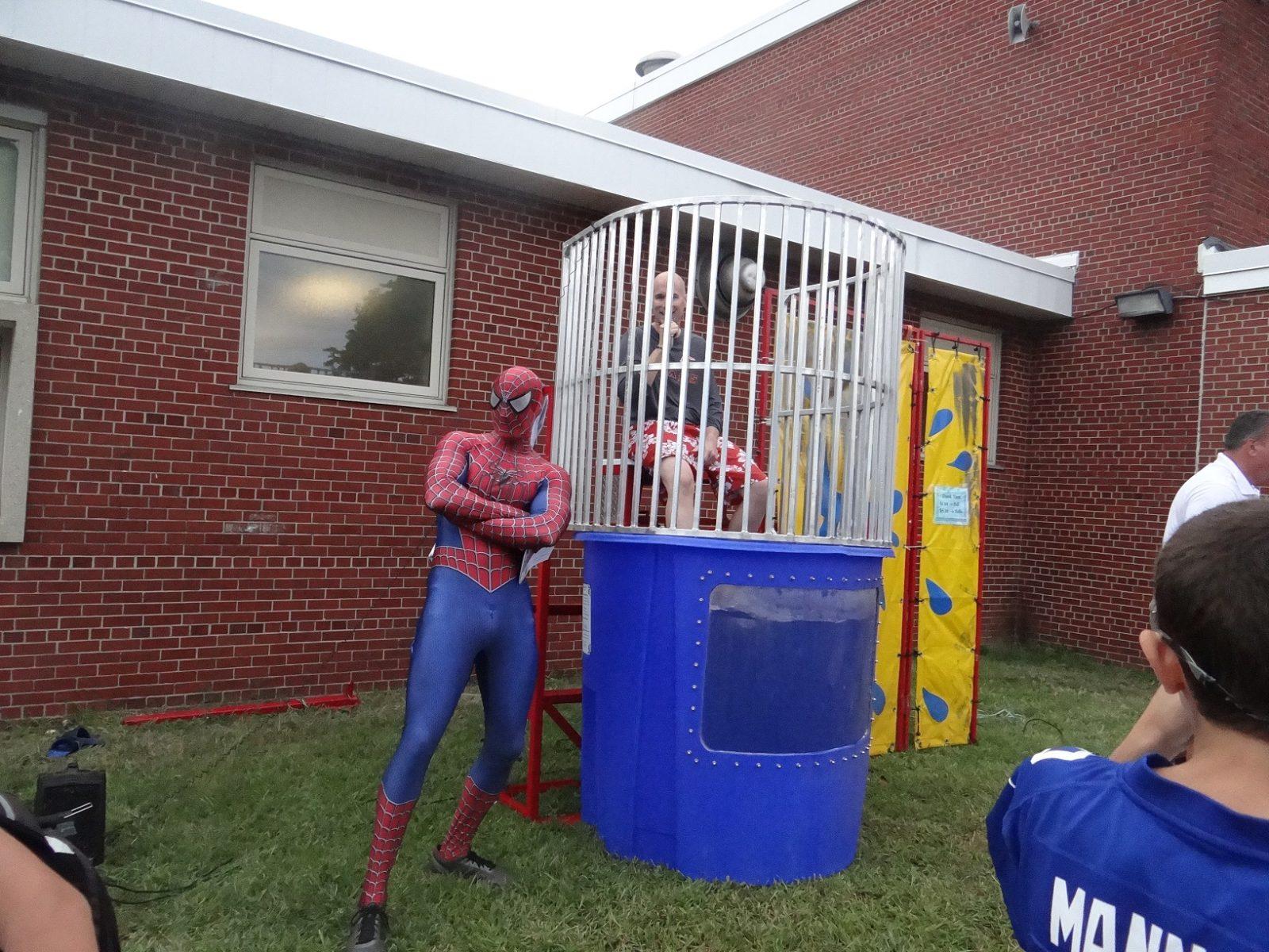 Spiderman and the mayor of woodland park,NJ