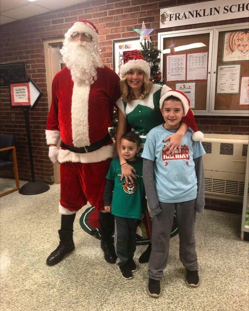 Santa visits Franklin school