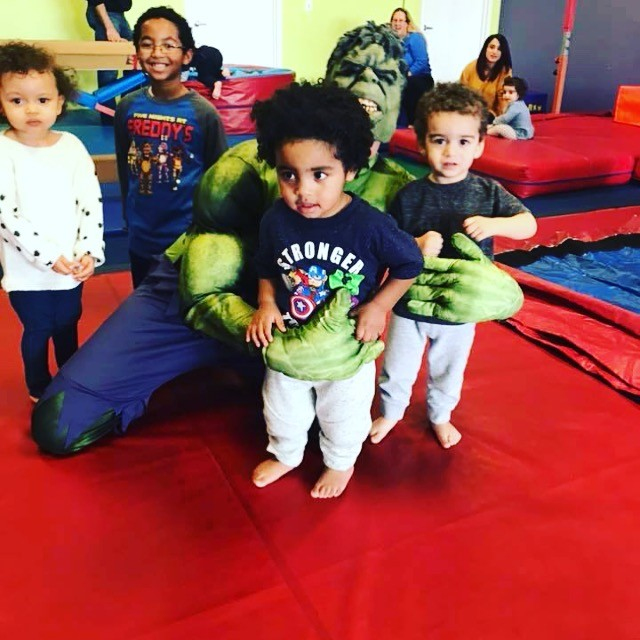 Hulk visits the little gym birthday party