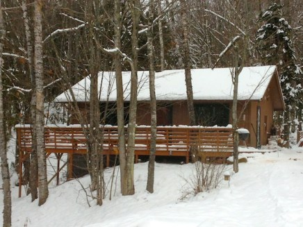 View of Cabin in Winter