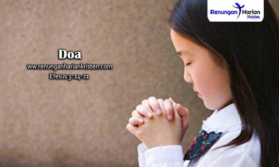 Renungan Harian Remaja Efesus 3: 14-21 | Doa