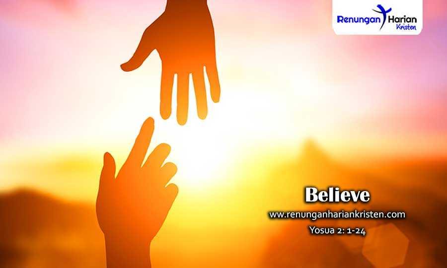 Renungan Harian Remaja Yosua 2: 1-24 | Believe