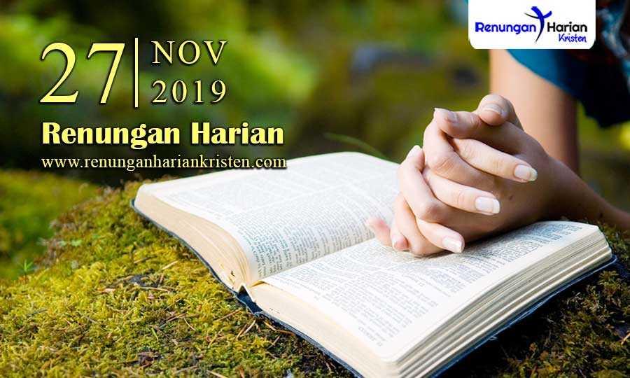 Renungan-Harian-Terbaru-27-November-2019