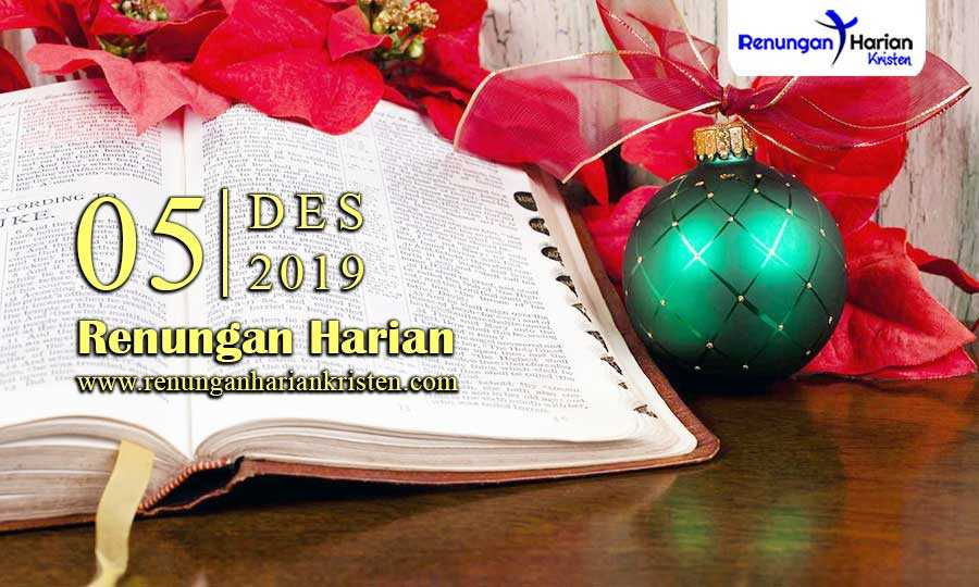 Renungan-Harian-Terbaru-5-Desember-2019