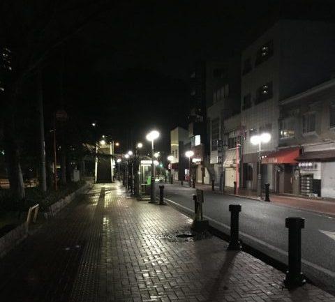下関駅付近の早朝
