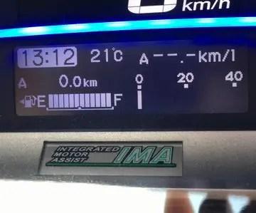 フリードのスピードメーター