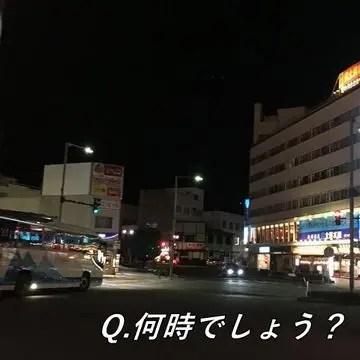山形駅東口のバスターミナル付近