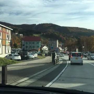 蔵王山の道路