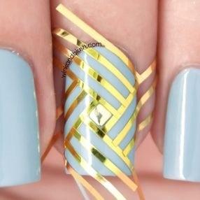 beautiful  elegant 30 striping tape nail art designs