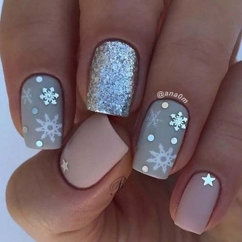 Snowflake Nail Designs Ideas 2019