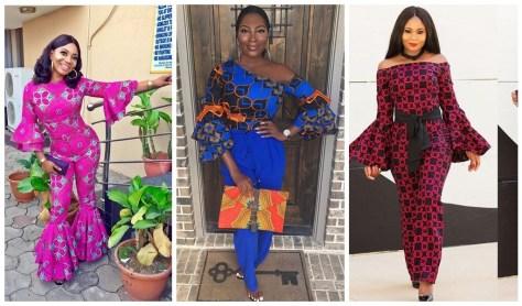 bell sleeve ankara dresses 2019
