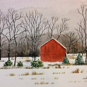 Snow Barn wc 10x7 Fr 12x9 150 copy 2