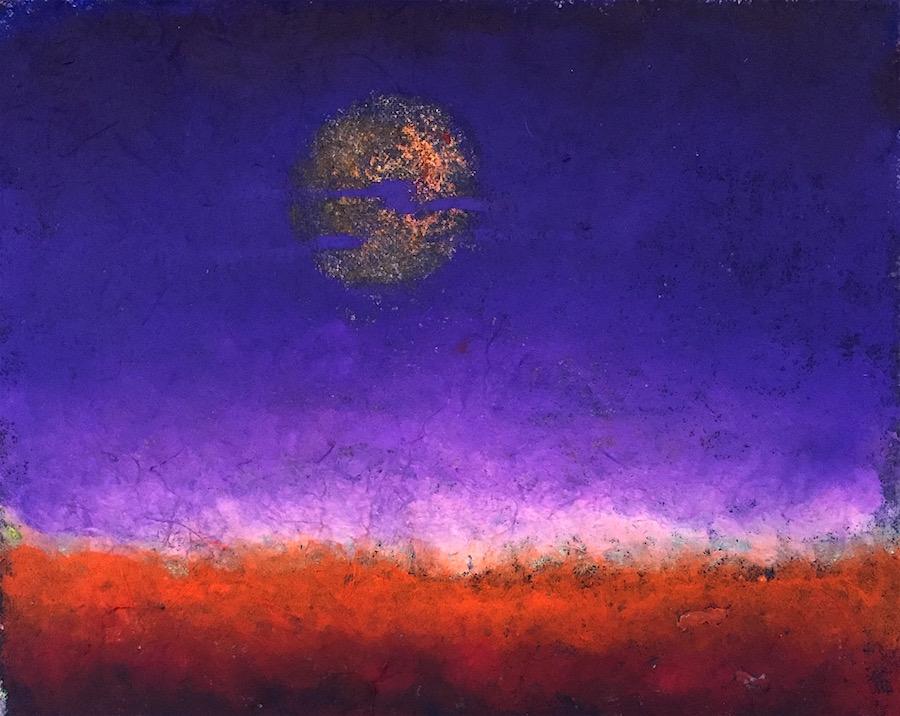 Purple Dreams oil pastel 8x10 copy 1