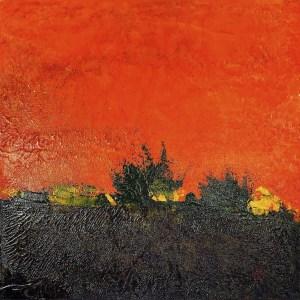 Orange landscape 12x12 175