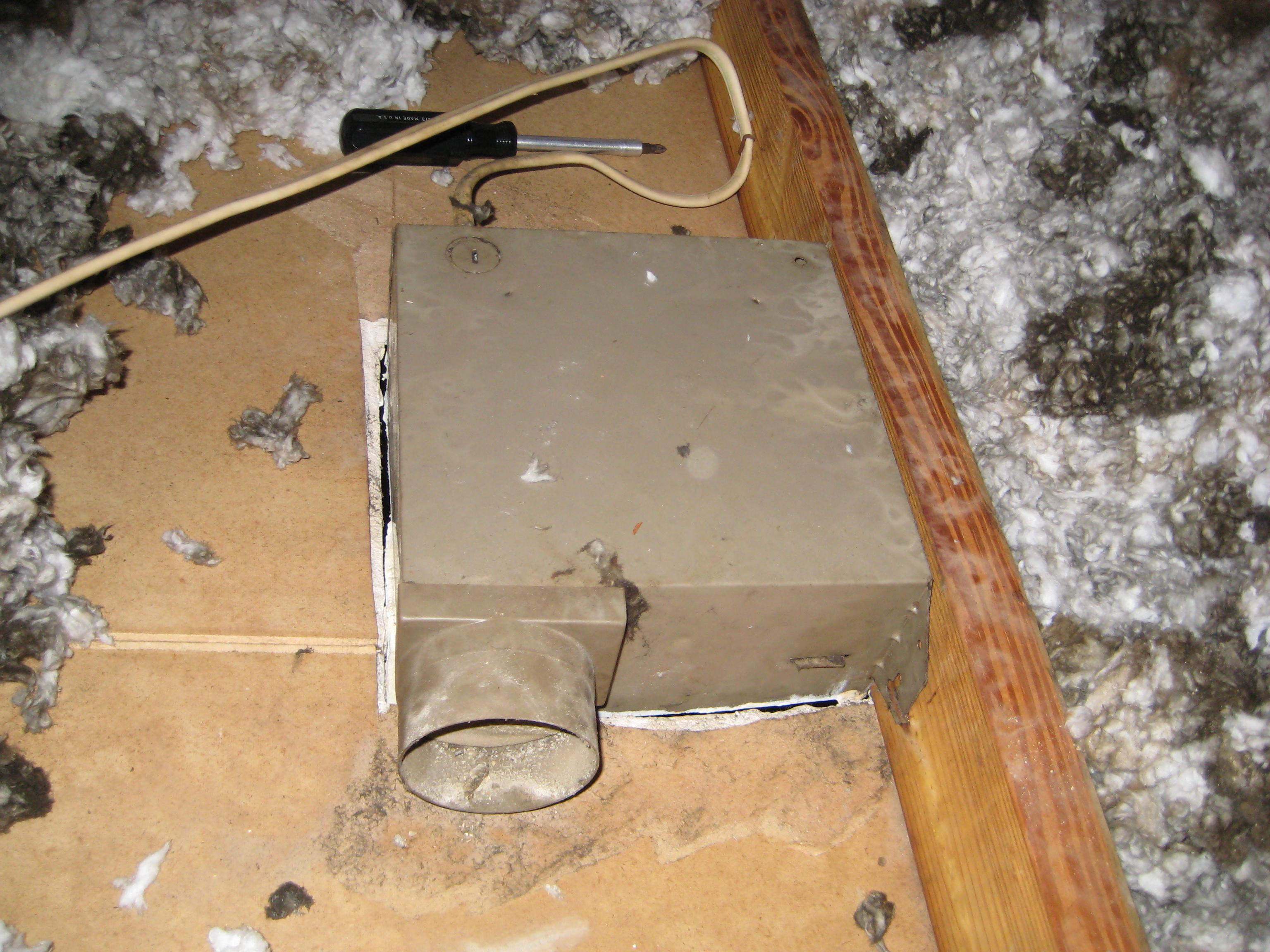 whoa what happened to my bathroom vent