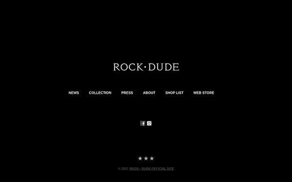 ROCKDUDE オフィシャルサイトのトップページ